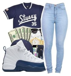 """Untitled #452"" by mindset-on-mindless ❤ liked on Polyvore featuring beauty, Stussy and NIKE"