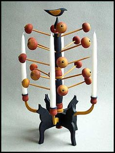 Blekinge handcrafted wooden Christmas tree 1937 by Johan Karlsson