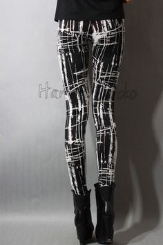 Japan fashion Punk Gothic Rock Visual kei women's girl's leggings one size S04