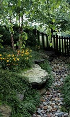 River of stones - McHale Landscape Design