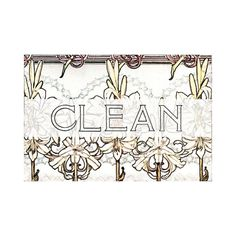 Dishwasher Magnet Clean Dirty Flip Sign Art Nouveau Jacobian Flowers shabby NOW Stainless Steel Option