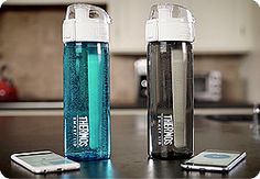 Tracking your water intake is easy with our new Thermos® Connected Hydration Bottle with Smart Lid and the Thermos Smart Lid app.