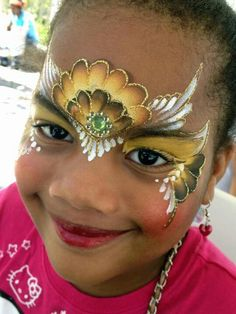 Super cute crown face paint.  Actually, I don't think this design would take very long!