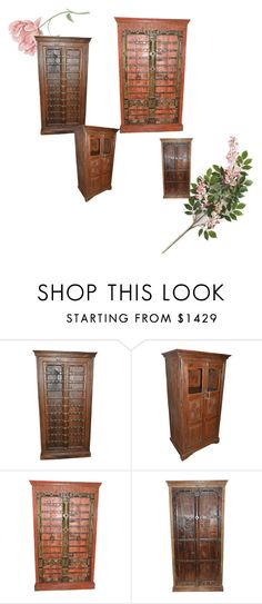 Antique Storage Armoire by era-chandok on Polyvore featuring interior, interiors, interior design, home, home decor and interior decorating