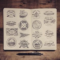 The Don't Tump Tour is an organised group that tours various rivers across Arkansas via canoe. Here is a boatload *ahem* of logo ideas for them to choose from. If I was anywhere near Arkansas I would most certainly be paddling along with them... #type #typography #typedaily #lettering #handmade #handtype #handcrafted #handlettering #handdrawntype #art #americana #branding #craft #creative #calligraphy #design #goodtype #graphicdesign #illustration #logo #letters #logotype #pencil #sketch…