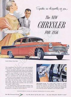 1956, match your evening wear to your car