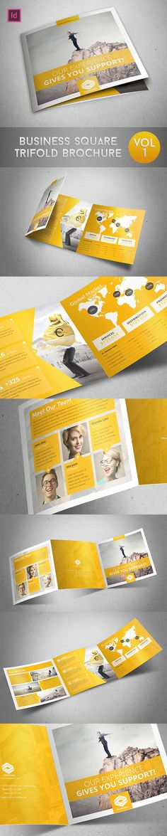 Business Square Trifold Brochure on Behance