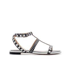 PALA PLANA COMBINADA - Sandalias planas - Zapatos - Mujer | ZARA España. 45.95 Euros