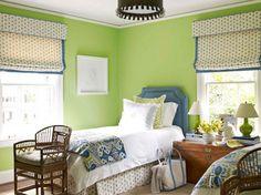 Pantone verde en dormitorio