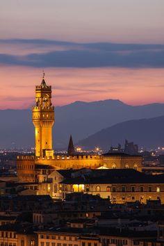 Florence, Palazzo Vecchio Tower par Jeroen van Bakel sur 500px.
