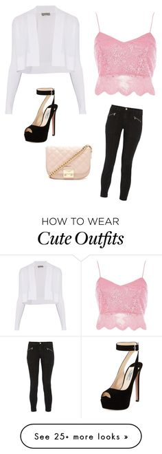 """Cute Party Outfit"" by lsantana13 on Polyvore featuring Sportmax, River Island, J Brand, Prada and Forever 21"