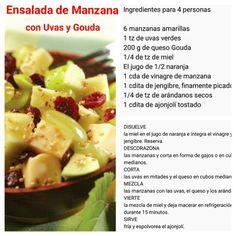 Ensalada de Manzana con Uvas y Queso Gouda