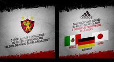 Sport fará homenagem a três seleções da Copa 2014 - http://colecaodecamisas.com/camisa-sport-homenagem-alemanha-mexico-japao-copa-2014/ #colecaodecamisas #Adidas, #Copadomundo2014