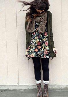 #vestido #medias #Botas