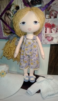 $50.00  Gingermelon Cloth Rag Doll is 12 inches