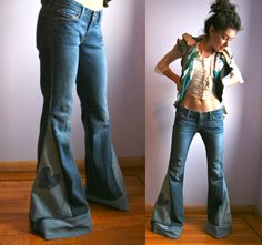 CUSTOM Denim Bell Bottom Jeans by PeacebyPieceCreation on Etsy ...