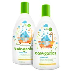 Babyganics Baby Bubble Bath, Fragrance Free - 20oz Bottle (2pk)