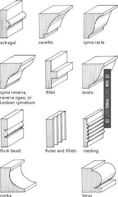 To Hold Shelves Moulding Types Sounds Boring But This Will Come In Handy I M Sure Of It