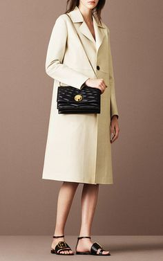 Leather Coat In Bone by BALLY for Preorder on Moda Operandi