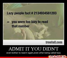Guess im lazy