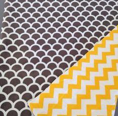 Yellow & grey mink pram blanket