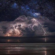 Thunderstorm and Milky Way