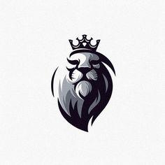 Logo Spot on Amazing animal logo design! Design by albert_kalingga . Lion King Art, Lion Art, Logo Maker, Minimal Logo Design, Graphic Design, Beard Logo, Restaurant Logo, Lion Tattoo Design, Lion Wallpaper