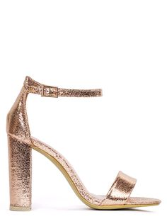 c0e3467d049 GET USED TO IT ROSE GOLD STRAPPY HEEL - Heels - Shoes - LAMODA Rose Gold