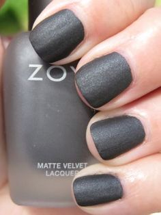 "Zoya Matte Velvet Lacquer #498 (Loredana). Manufacturer says it's ""not intended to be worn with a base coat, top coat or speed dryer of any kind. Due to the unique matte formulation, color is not as long-wearing as traditional nail color. A completely clean, dry nail surface yields the best results for matte nail color wear."""