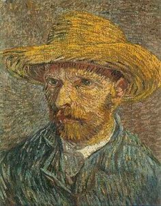 'Self-Portrait with Straw Hat'. Oil on canvas. Paris, Winter 1887-1888. New York, United States, The Metropolitan Museum of Art. Vincent van Gogh, born 30th March1853 in  Zundert, Netherlands. Vincent Willem van Gogh is one of the most famous artists of all time. He has influenced many painters over the years, and been one of the most collected painters that ever lived. He created his own art movement, Post-Impressionism, which was only recognized after his death, just like his work.