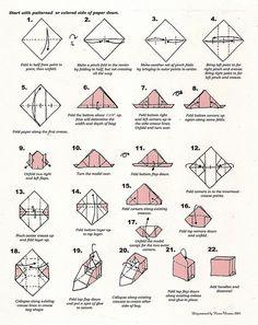 Origami purse folding instructions