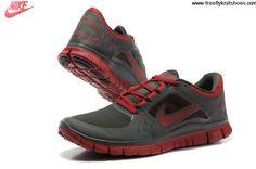 low priced a47e2 ae570 Shop Mens Nike Free Run 3 Charcoal Red Shoes New 2013 Sneakers,  www.cheapshoeshub nike free run running shoes, nike air max cheap nike free  mens nike free,