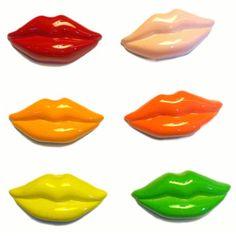 Lips Magnet Set  by NYCitylimit  5.50