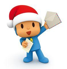 Pocoyo envía su carta a Santa.