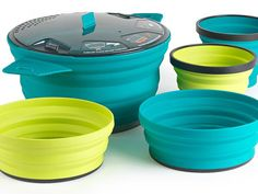 Picture of the Sea to Summit X-Pot cookware set.