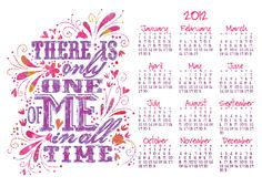 free calendar via lil blue boo