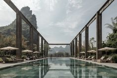Yangshuo Sugar House in Guilin, China by Vector Architects | Yellowtrace Us Swimming, Guilin, Adaptive Reuse, Keep The Lights On, Pool Water, Historical Architecture, Photo Essay, Best Hotels, Amazing Hotels