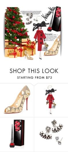 """""""The Holiday Wish List With Neiman Marcus: Contest Entry"""" by theitalianglam ❤ liked on Polyvore featuring Neiman Marcus, Christian Louboutin, Soffieria de Carlini and DANNIJO"""
