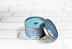 Sea Breeze: Scented Soy Woodwick Candle Tin by WildfireCandleCo Wood Wick Candles, Tin Candles, Unisex Gifts, Coffee Cans, Breeze, Fragrance, Sea, Summer, Handmade