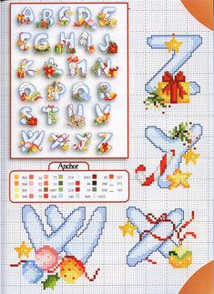 Cross stitch Christmas alphabet (4)