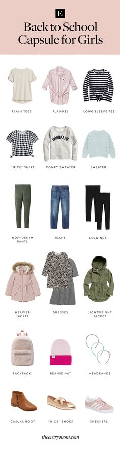 A Kids' Back-to-School Capsule Wardrobe to Ease Your Shopping Woes #TheEverymom