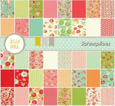 Amazon.com: Moda Scrumptious Jelly Roll, Set of 40 2.5x44-inch (6.4x112cm) Precut Cotton Fabric Strips: Arts, Crafts & Sewing