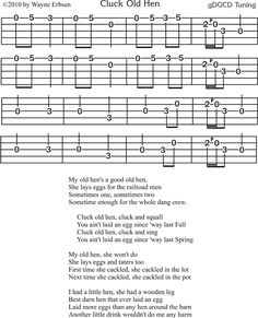 Cluck Old Hen - Free Clawhammer Banjo Tab. http://www.nativeground.com/free-clawhammer-banjo-tabs/