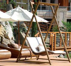 Wunderbar MBM Doppel Schaukel Liege Heaven Swing Mocca 254.229 Gartenmöbel Relaxliege