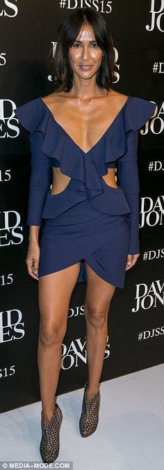 ... and lifestyle blogger Lindy Klim took the plunge in cleavage baring outfits as they ma...