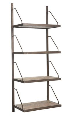 The Lewen Book Shelf is sleek and stylish and perfect for making a modern statement in your home. Place it in your home office, living room or den for extra s