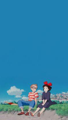 Studio Ghibli's Kiki's Delivery Service wallpaper Studio Ghibli Wallpaper, Art Studio Ghibli, Studio Ghibli Background, Studio Ghibli Movies, Cartoon Wallpaper, Movies Wallpaper, Kawaii Wallpaper, Disney Wallpaper, Iphone Wallpaper Movie