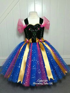 Disney Frozen Anna Inspired Super Sparkly Tutu Dress-Birthday, Party, Photo…