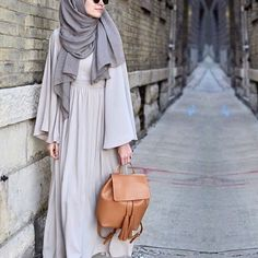 Inayah stone maxi dress with binding detail + ash modal hijab - www. Hijab Chic, Hijab Casual, Abaya Chic, Muslim Dress, Hijab Dress, Hijab Outfit, Hijab Abaya, Islamic Fashion, Muslim Fashion