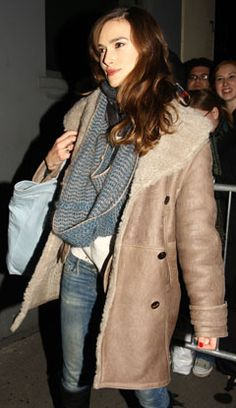Quote of the Day: Keira Knightley Actually Bought Her $3,995 Burberry Shearling Pea Coat